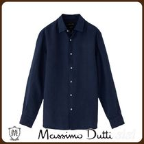MassimoDutti♪SLIM FIT DYED 100% LINEN SHIRT