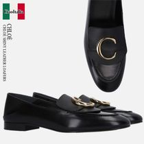 CHLOE CHLOE SHINY LEATHER LOAFERS