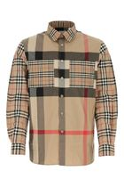 BURBERRY Embroidered stretch cotton shirt