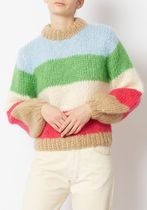 Ganni セール☆Color-block mohair and wool-blend sweater