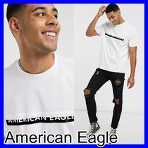 American Eagle Outfitters(アメリカンイーグル) Tシャツ・カットソー 関税送料込【American Eagle】☆チェストロゴTシャツ/White☆