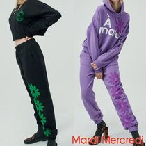 ★MARDI MERCREDI★SWEAT PANTS 4FLOWER 2色