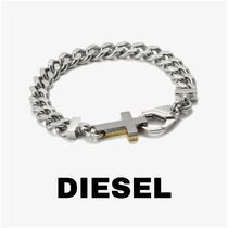 UK発★DIESEL 20AW新作 ICON ロゴ入りチェーンブレスレット