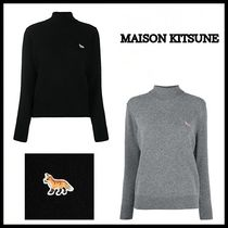 【MAISON KITSUNE】20AW/LAMBSWOOL PROFILE FOX PATCHハイネック