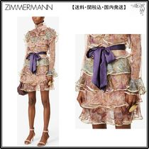 Zimmermann☆ドレス☆Lucky floral-print tiered silk mini dres