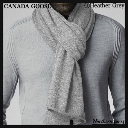 CANADA GOOSE マフラー 【CANADA GOOSE】メリノウール/Knit Jersey Scarf/各色(3)