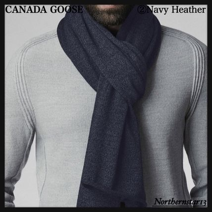 CANADA GOOSE マフラー 【CANADA GOOSE】メリノウール/Knit Jersey Scarf/各色(5)