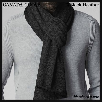 CANADA GOOSE マフラー 【CANADA GOOSE】メリノウール/Knit Jersey Scarf/各色(7)