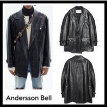 韓国発★ANDERSSON BELL★UNISEX FAUX LEATHER RAW-CUT JACKET