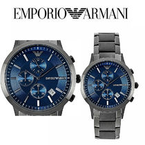 AR11215 Grey & Blue Stainless Steel Chronograph Mens Watch