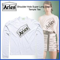 ARIES(アリーズ) Tシャツ・カットソー 20AW◆ARIES◆Shoulder Hole Super Long Sleeve Temple Tee