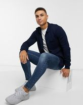 Topman knitted cardigan in navy