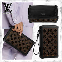 ◆Louis Vuitton 20SS 最新◆SOFT TRUNK CLUTCH モノグラム◆茶