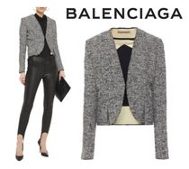 [関税・送料込] BALENCIAGA☆Pleated boucle-tweed jacket
