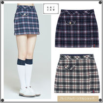 ROMANTIC CROWNのFRONT POCKET CHECK SKIRT 全2色