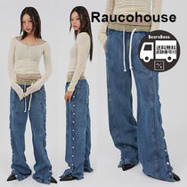 Raucohouse Vintage Side Button Denim Pants BBH420 追跡付