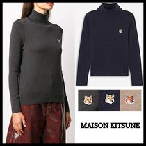 【MAISON KITSUNE】20AW/MERINOS FOX HEAD PATCH タートルニット