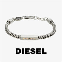 UK発★DIESEL 20AW新作 ロゴ入りブレスレット