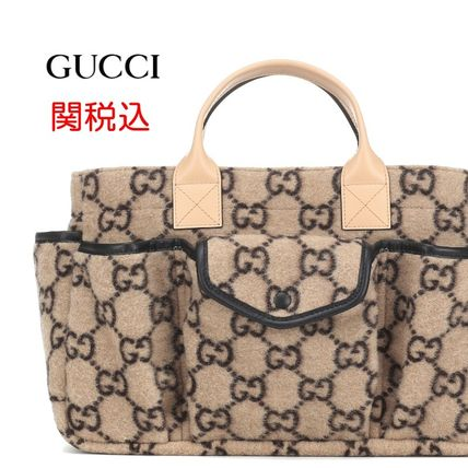 "New! GUCCI ""GG""ウール トートバッグ 関税込 大人もOK"