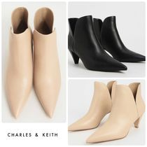 ★CHARLES & KEITH★Cone Heel Ankle Boots ブーツ/送料込