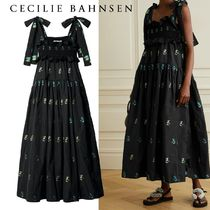 CECILIE BAHNSEN(セシリーバンセン) ワンピース ∞∞ CECILIE BAHNSEN ∞∞ Mika ruffled embroidered ドレス☆