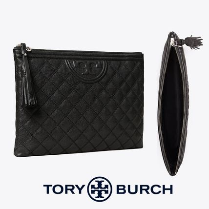 Tory Burch クラッチバッグ 即発★TORY BURCH★FLEMNG SOFT TEXTURED POUCH 64524