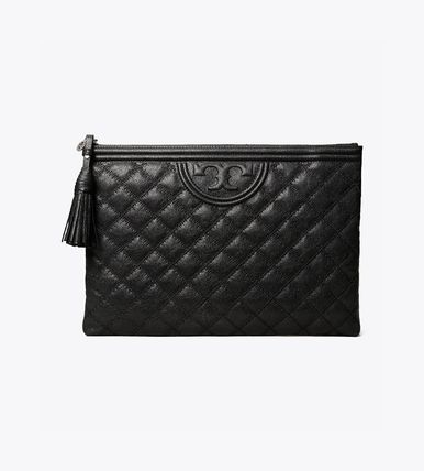Tory Burch クラッチバッグ 即発★TORY BURCH★FLEMNG SOFT TEXTURED POUCH 64524(2)