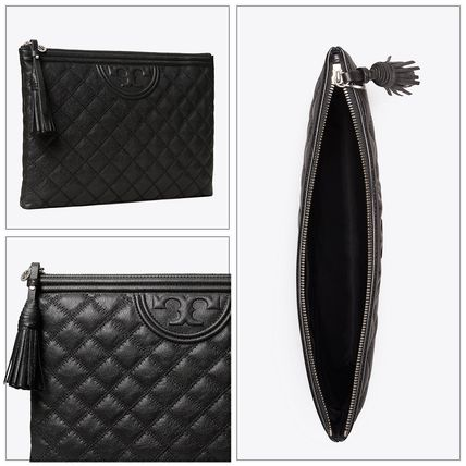 Tory Burch クラッチバッグ 即発★TORY BURCH★FLEMNG SOFT TEXTURED POUCH 64524(3)