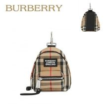 Burberry正規品/EMS/送料込み Vintage check Backpack チャーム