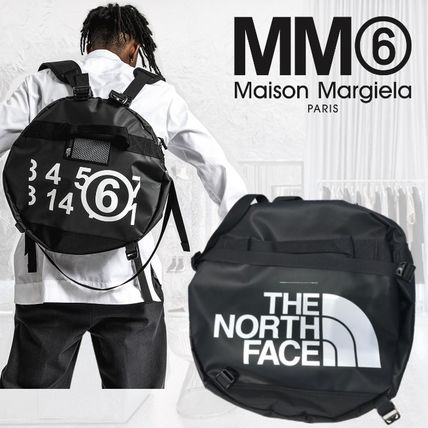 ★MM6★THE NORTH FACE コラボ☆バックパック☆丸型 ロゴ☆Black