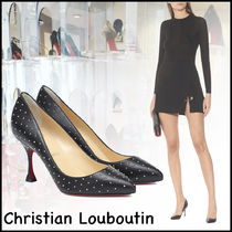★Christian Louboutin★Pigalle 85mmパンプス Black/Antic Gold