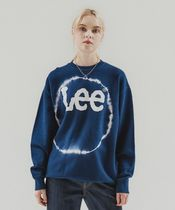 LEE(リー ) Tシャツ・カットソー 【LEE】BIG TWITCH TIE DYING LOOSE-FIT CREWNECK NAVY