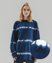 LEE(リー ) Tシャツ・カットソー 【LEE】SMALL TWITCH TIE DYING LOOSE-FIT LONG SLEEVE NAVY