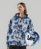 LEE(リー ) パーカー・フーディ 【LEE】SMALL TWITCH TIE DYING OVER-FIT HOODIE NAVY