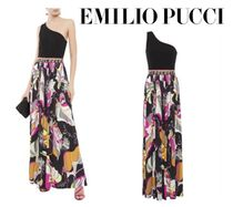 Emilio Pucci☆One-shoulder ponte and printed jersey maxi