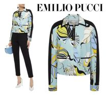 [関税・送料込] Emilio Pucci☆Printed stretch-jersey jacket
