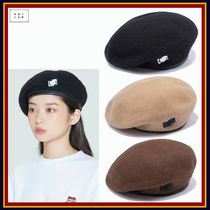 [ROMANTIC CROWN] LAUREL LOGO BERET★韓国の人気★日本未入荷