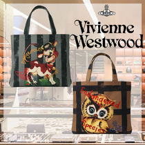 【Vivienne Westwood】COW and OWL トートバッグM【国内発】