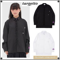 日本未入荷TARGETTO SEOULのFRONT FRILL LONG SHIRT 全2色