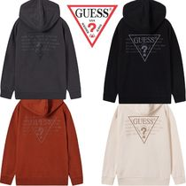 日本未入荷★GUESS★BACK 発泡 LOGO HOODED SWEATSHIRTS 4色