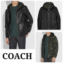 COACH* レザージャケット  Reversible Hooded Leather Trainer