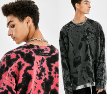 ★ATTENTION ROW★WATER TWO TONE WASHING PIGMENT SWEATSHIRT★