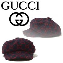 【GUCCI】TOWARDS WINTER COLLECTION フェドラハット★ネイビー