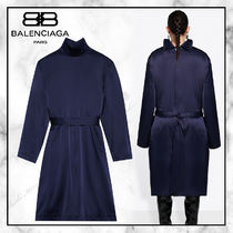 ◆BALENCIAGA20AW◆BACK TO FRONT TRENCH ワンピース◆Dark Navy