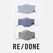 RE/DONE Upcycled Houndstooth Mask Pouch Set マスク