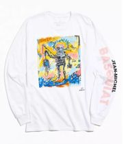 Urban Outfitters(アーバンアウトフィッターズ) Tシャツ・カットソー 人気 Basquiat Fishing Long Sleeve Tee バスキア ロンT 長袖