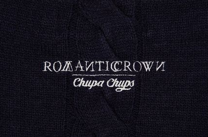 ROMANTIC CROWN ニット・セーター ROMANTIC CROWN★[CHUPA CHUPS X RMTCRW]CHAIN KNIT 2COLOR(19)
