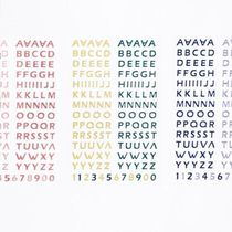 【Be on D】 Silver and alphabet stickers 4SET