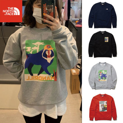 ★THE NORTH FACE★ NM5ML01 GO-GREEN SWEATSHIRTS スウェット
