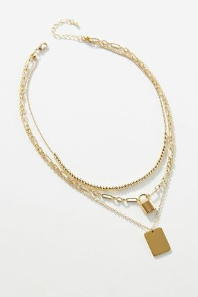 Anthropologie ネックレス・ペンダント 関税込み☆Lock Layered Necklace(2)